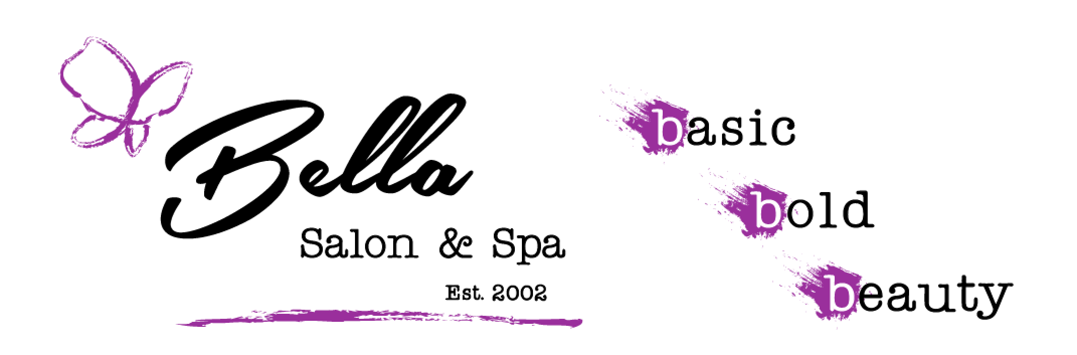 Bella logo with basic bold beauty